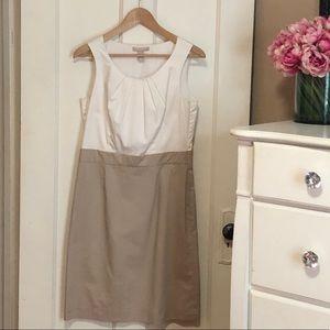 Banana Republic White & Beige Dress